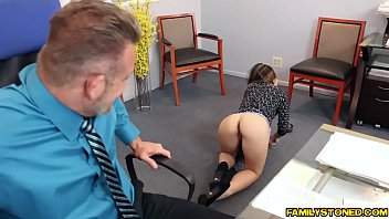 Bambi Brooks rides her dads matured cock on top