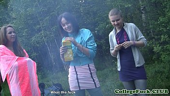 thumb Three College Chicks Jizzed On Tits Outdoor