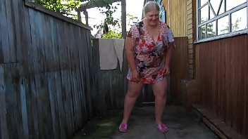 thumb Russian Mother Of Pissing In The Nylon Pantyhose