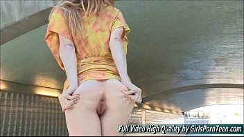 Bethany 2 sultry natural redhead public nudity fingers...