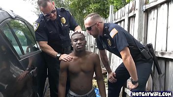 Officers take advantages of this black guy...