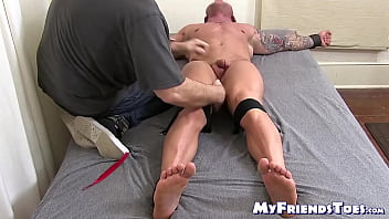 Muscular hunk tickle tormented by mature master...