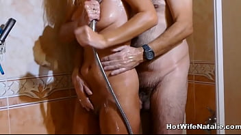 Naughty milf slut wife groped by guest while...
