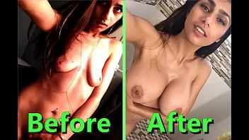Mia Khalifa After &amp_ Before Very crazy little body after famous
