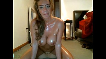 Girl gets oiled and rides big ramrod with passion