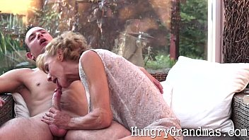 Smoking hot granny takes a young cock