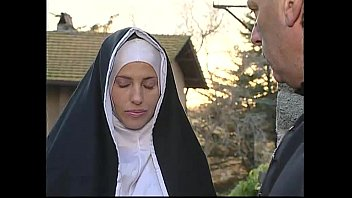 Two nuns are comforting a sister, but she don't know they're two horny shemales!