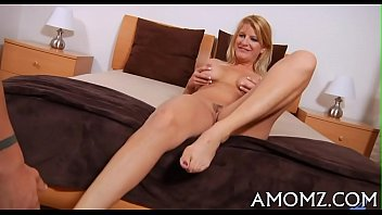 Mature sweetheart groans and gets off