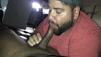 Latino Bear Gives His Straight Black Brother In Law A Long Deep Blowjob...