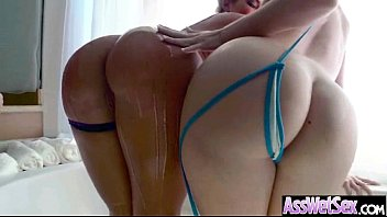 (aj savannah) Oiled Curvy Ass Girl Take It Deep In Her Behind clip-02