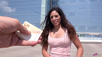GERMAN SCOUT - Natural Latina Girl Linda Pickup and Fuck at Real Street Casting