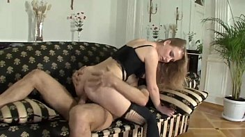 Sexy blonde is tittyfucked by a huge cock