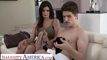 Naughty America Becky Bandini Fucks To Keep Her Son's Job