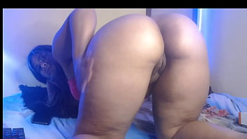 XVIDEOS Latin brunette with tremendous ass gives pleasure in her room while her family is not at home. free