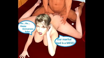 3d comic cuckold dirty with her boss on...