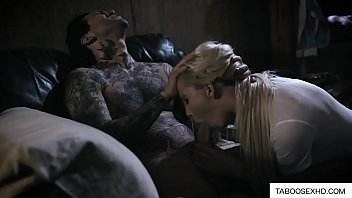 Blonde horny stepsister rough fuck by brother