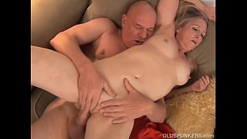 Hairy gramma and kinky cougar crazy dildo fuck