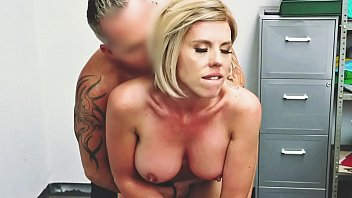 Blonde Milf Amber Chase Caught Stealing Lingerie And Punished Hard