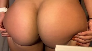 Sexy fit jiggly bubble latina booty tease...