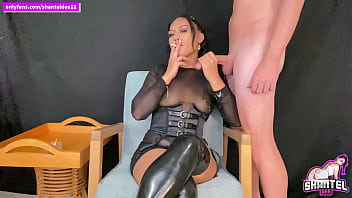 Brunette Smokes While Sucking And Cock