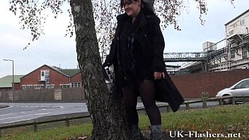 Chubby amateur milfs public exhibitionism and outdoor bbw flashing of tits