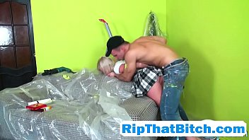Painting skipped for pussy pounding