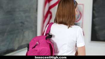 InnocentHigh - Naughty New Student Gets Banged | Video Make Love