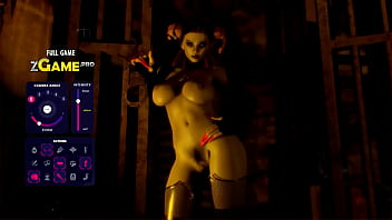 Hard short haired 3d babe zombie game...