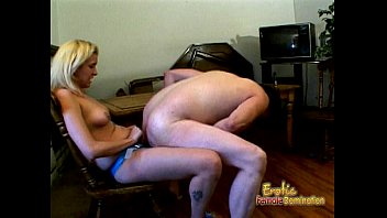 Smoking hot femdom session with a slutty blonde sex bomb  #9752