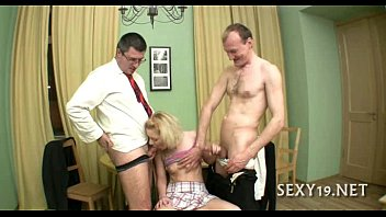 thumb Threesome Lesson With Old Teacher