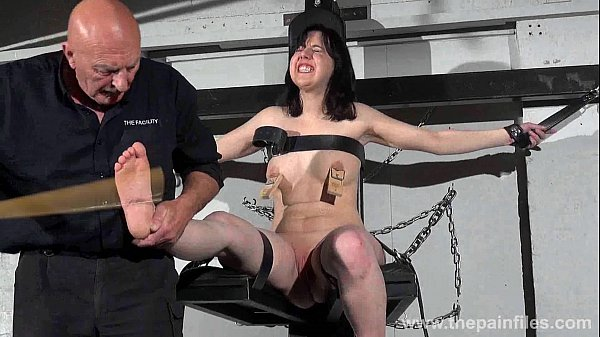 Fetish - Feet whipping of tied Honesty Calliaro