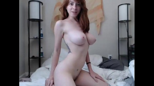 Sexy redhead babe masturbating till cums on webcam chat