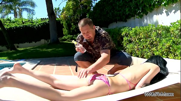 Amadea Emily enjoy passion fuck by the pool in summer