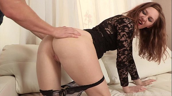 FirstAnalQuest.com - ASS FUCK IS AGGRESSIVE WITH A SEXY SMALL TITS TEEN GIRL
