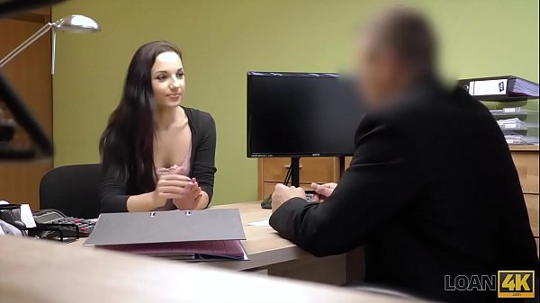 LOAN4K. Tricky loan agent drills wonderful pussy of young lassie