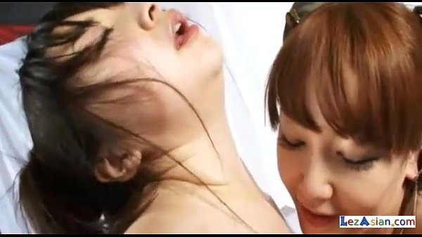 2 Asian Heroines Licking Armpits And Pussies Rubbing In Scissor On The Bed