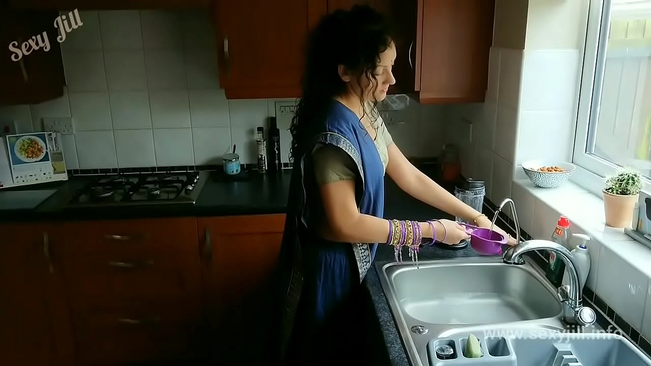 Blue saree daughter blackmailed to strip, groped, m. and fucked by old grand father desi chudai bollywood hindi sex video POV Indian