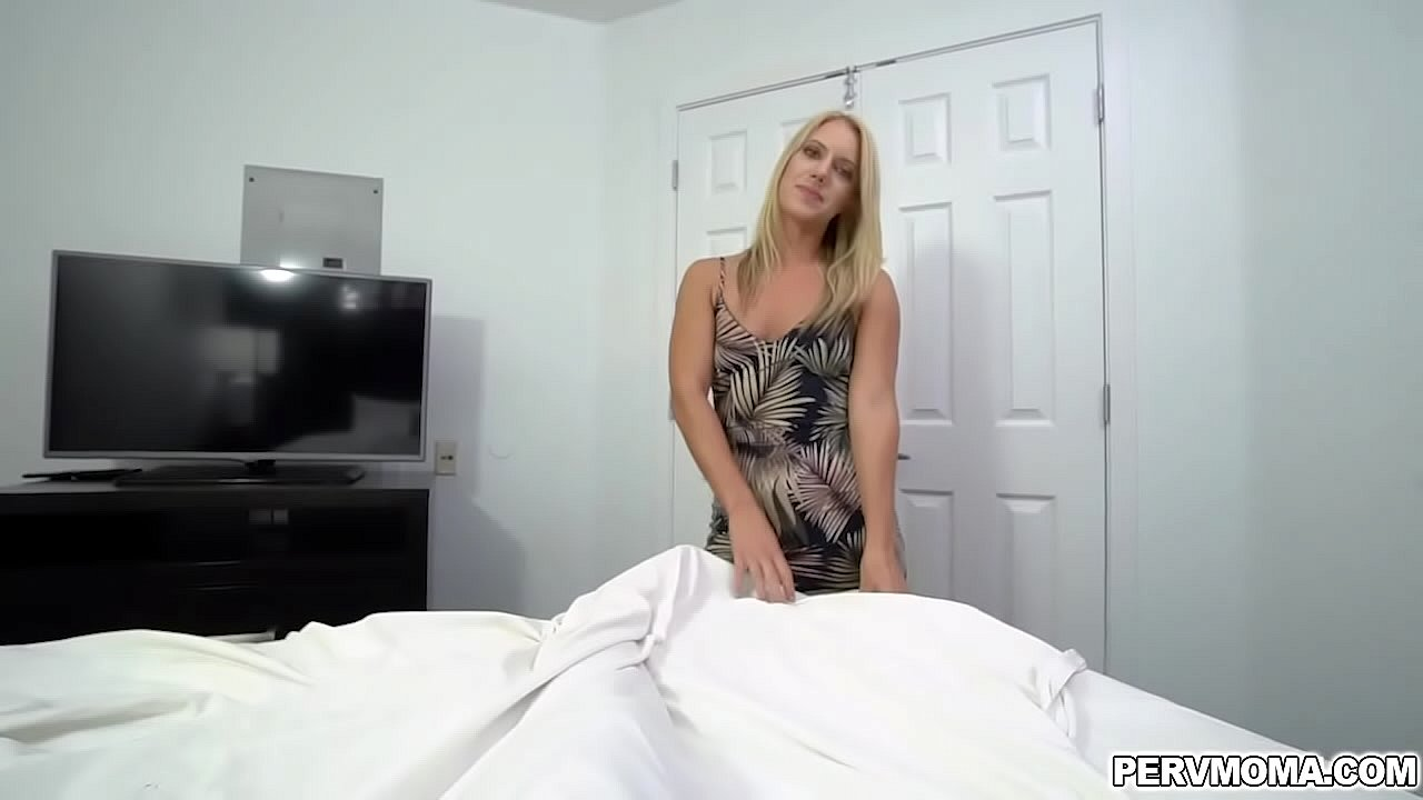 Candice Dare opens her milf mouth wide and gives her stepson a a sensual loving blowjob!