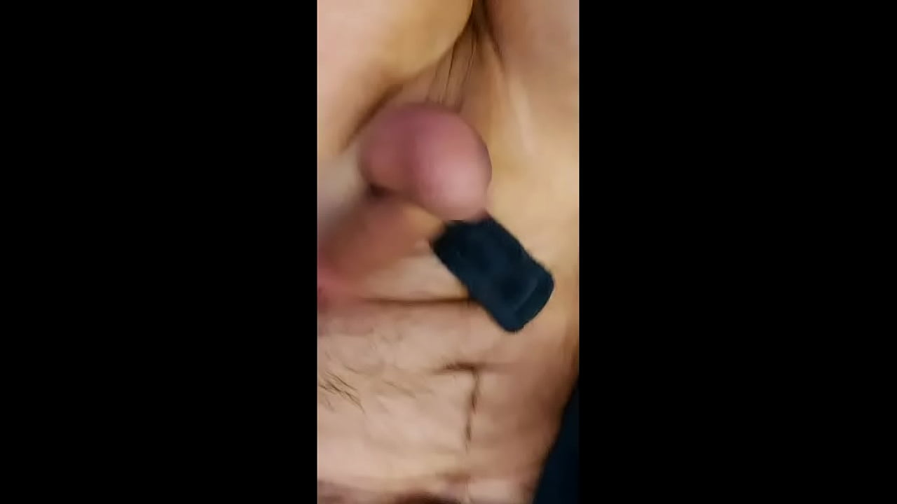 Bashing and busting my balls until I cum