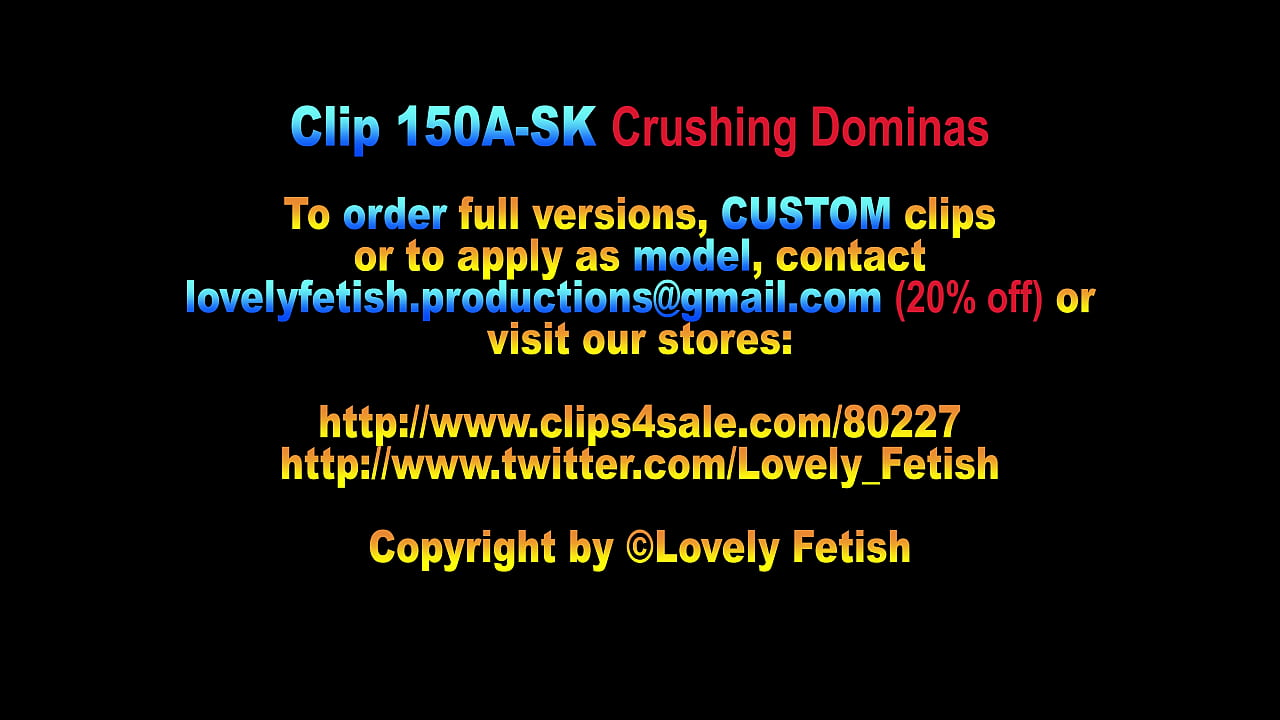 Clip 150A-SK Crushing Dominas - Sale: $10