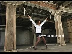 Tied indonesian slave used and abused in  ...