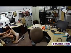 Petite woman gets drilled by pawn dude