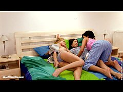 Bedroom Play lesbian threesome with Jackie Sheridan and Justine from Sapphic Ero