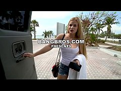 BANGBROS - Sloan Harper, A Blonde With Natural Big Tits Hops On The Bang Bus