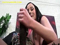 Brunette Dominating a White Cuckoldld