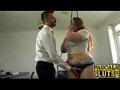 Curvy stunner pussy hammered roughly