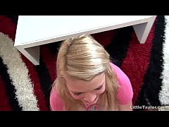 Sexy Blonde Teen Chcik Blows Cock Like A Pro