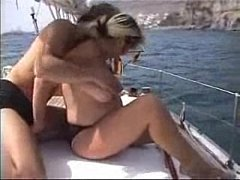Pregnant does sex in yacht