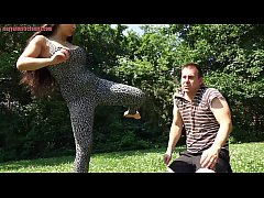 MISTRESS MIRA - Kicking And Facebusting Beatdown Outdoors