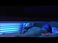 Hidden camera at the solarium ! - clip
